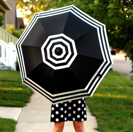 Как модернизировать однотонный зонт в яркий и стильный аксессуар