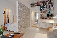 В однокомнатной квартире может находиться спальное место и гостиная. Нужно только правильно разделить на зоны