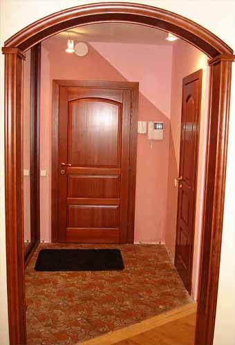 Оформление дверного проема без двери (80 фото отделка) 33