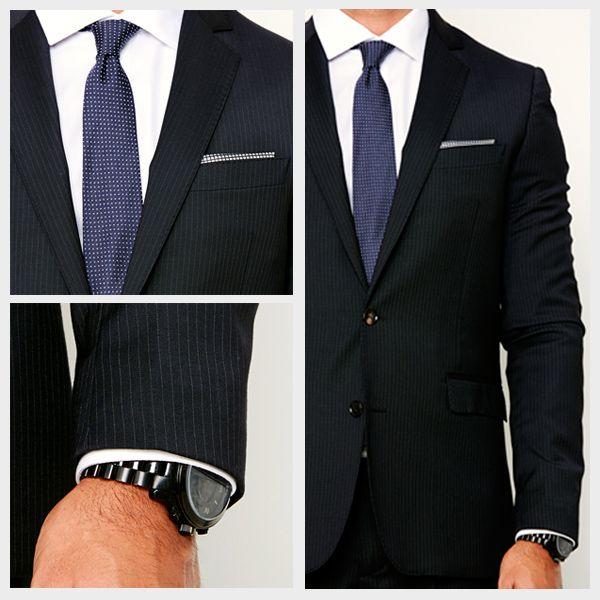 как грамотно носить мужские аксессуары к костюму платок часы