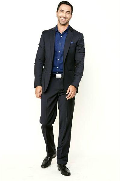 вечерний мужский образ в костюме без галстука
