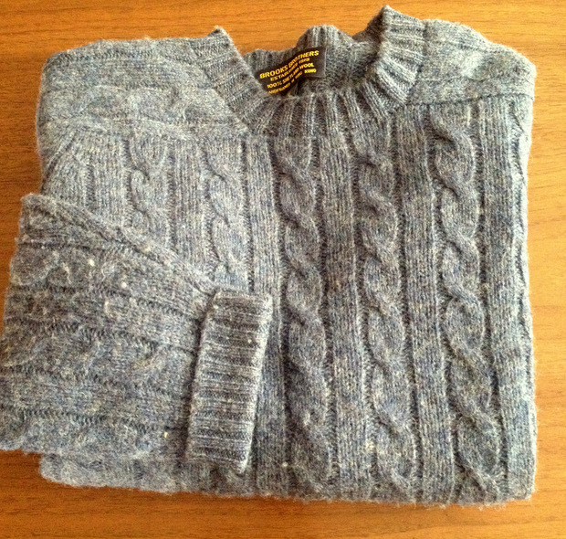 Шетлендский мужской свитер