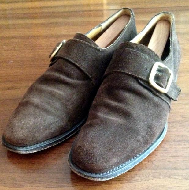 Шоколадно-коричневая замша - мужские монашеские ботинки