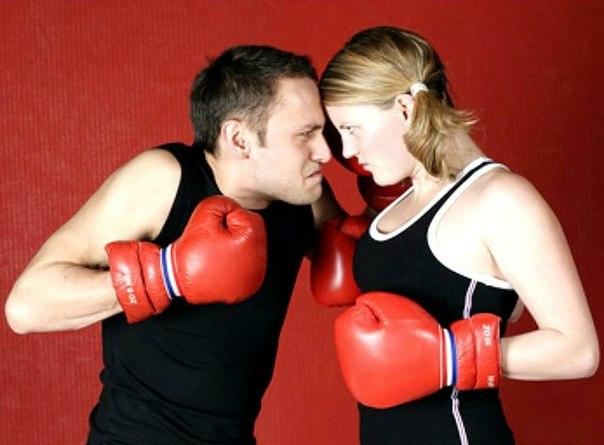 спор со своей половиной: бокс-матч