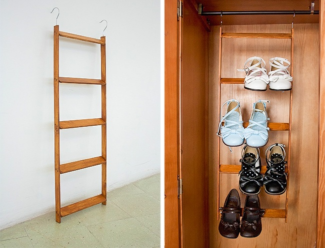 Как практично организовать хранение обуви на полке?