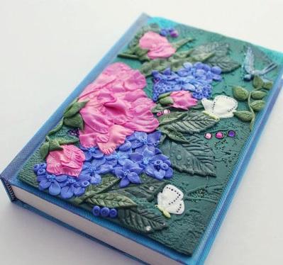 Как сделать обложку блокнота из полимерной глины