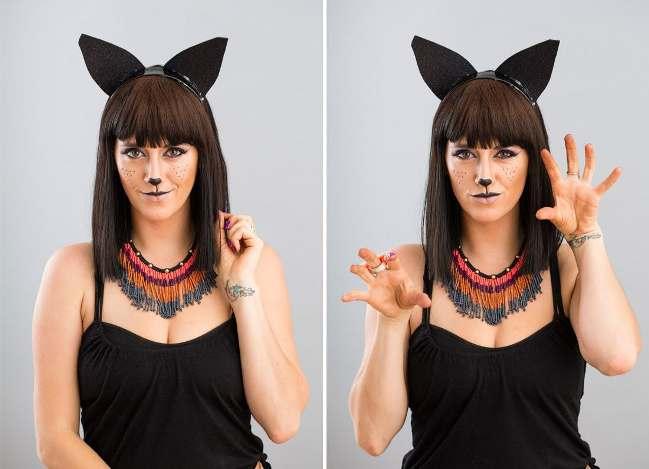Как сделать тематический макияж на Хэллоуин: грим русалки и черной кошки