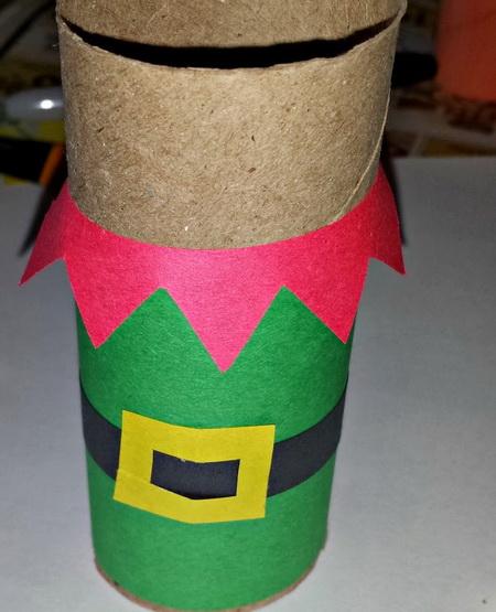 Как сделать новогодние поделки из втулки?
