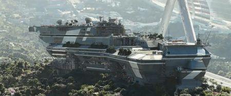 Элизиум (Elysium) - дом на космической станции рай, кадр из фильма