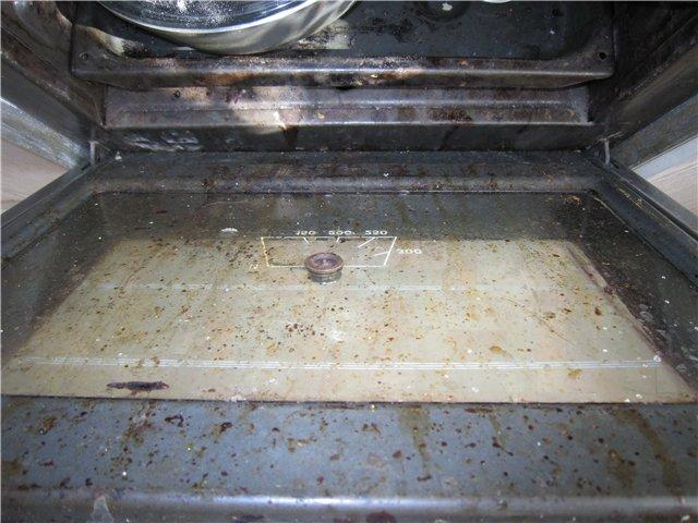 очень грязная духовка