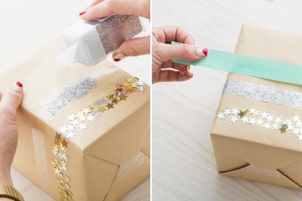 Как бумагой упаковать подарок 80