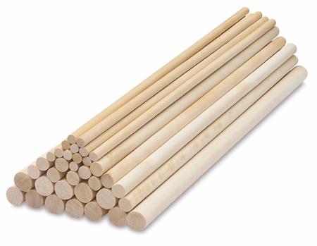 готовые круглые деревянные палочки