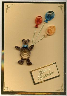 Веселая открытка с мишкой