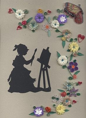 Пример открытки с аппликацией