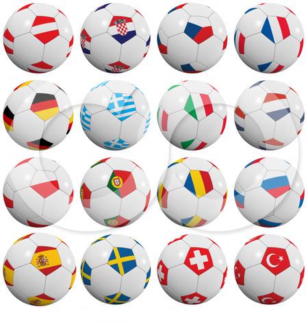 Снимки мячей для украшения коллажа