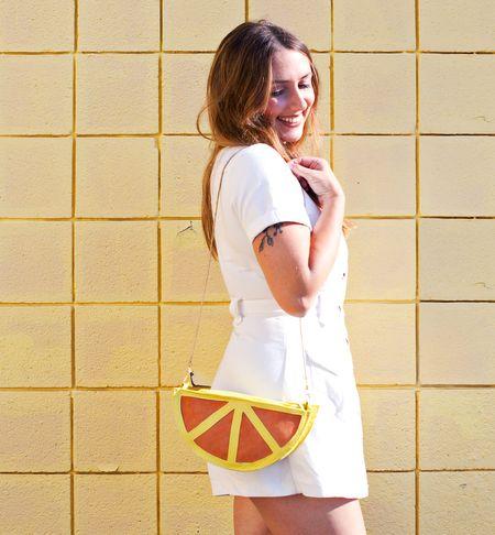 Как сшить самую простую сумочку в форме дольки апельсина?