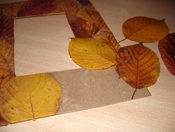 """Фоторамка """"Листопад"""": процесс создания, осенние поделки"""