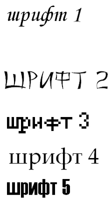 Эксперементы со шрифтами
