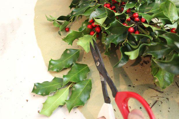 Как легко сделать новогодний венок из живых веток?