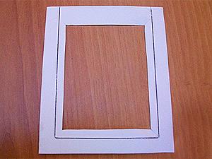 заготовка для рамки для фотографии из картона