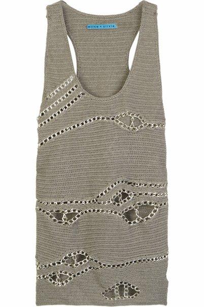 вязанное просторное платье танк - винтаж