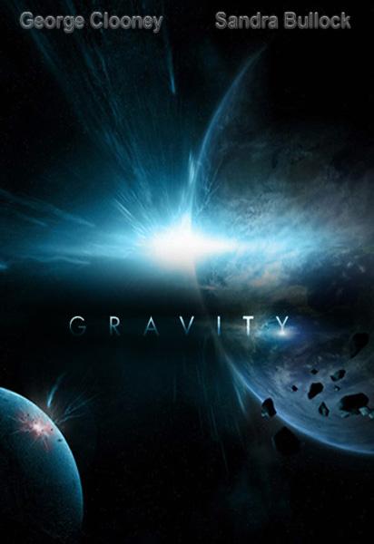 «Гравитация» (Gravity) фантастический космический фильм осени 2013 постер к фильму
