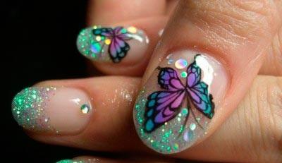 Как сделать нейл-арт с бабочками