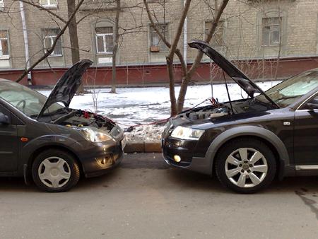 Лучше всего разместить средства передвижения таким образом, чтобы двигатели смотрели друг на друга