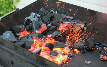 Как правильно разжигать угли для жарки шашлыка?