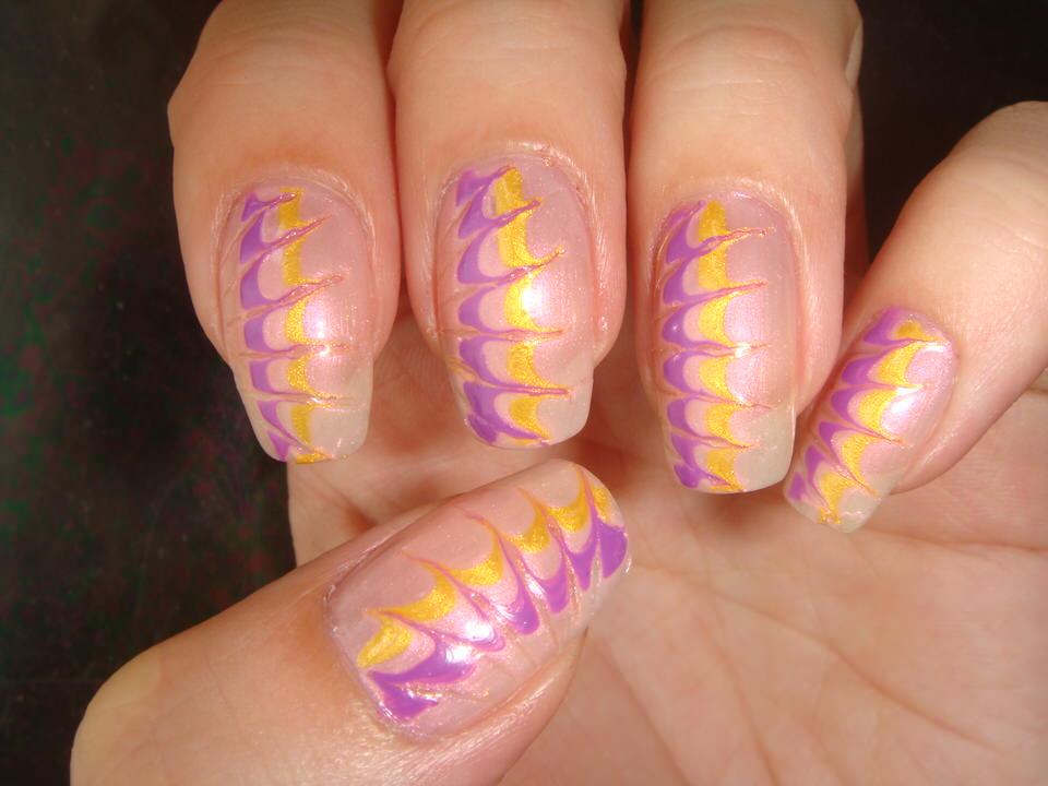 рисунки на ногтях волны лепестки