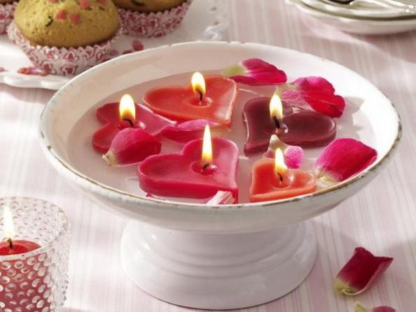Как сделать декоративную композицию с плавающими свечами