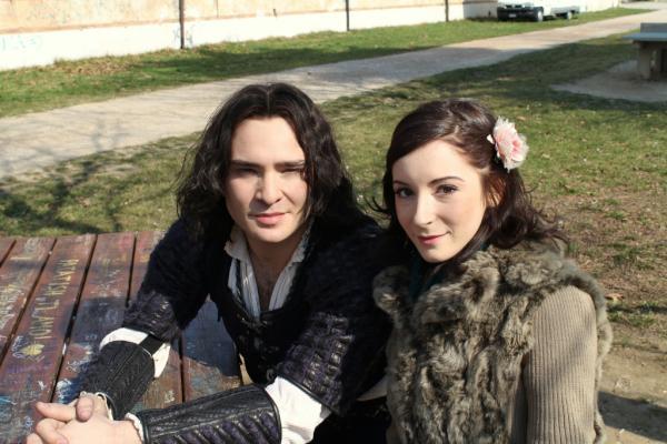 кадр со съемок итальянского фильма Ромео и Джульетта (Romeo and Juliet) 2013