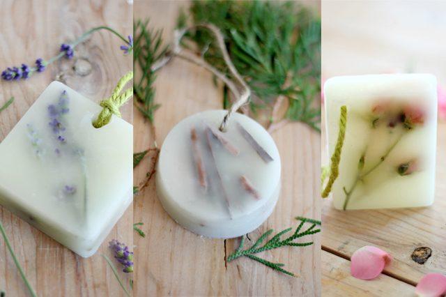 Готовые ароматические бруски/саше из воска с натуральными цветами