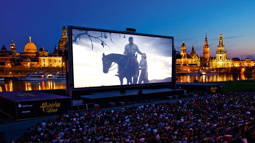 «Filmnächte Am Elbufer», Дрезден, Германия.