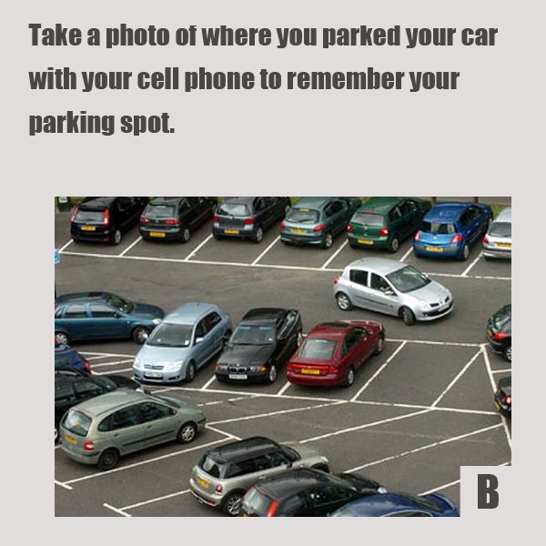 Просто сфотографируйте место, где поставили машину, на телефон – с захватом конкретных недвижимых ориентиров