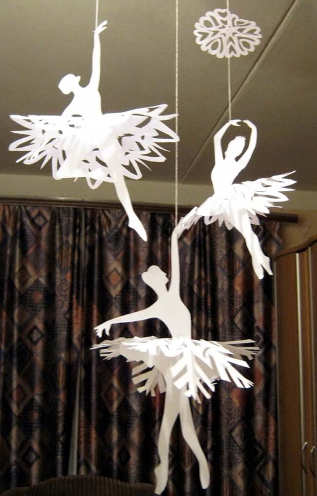 «Танцующие» снежинки превратились в настоящих балерин
