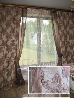 комбинированные шторы из органзы