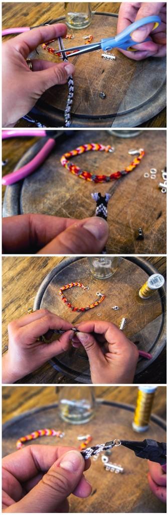 инструкция в картинках по креплению зажимов на браслет дружбы феньку фенечку