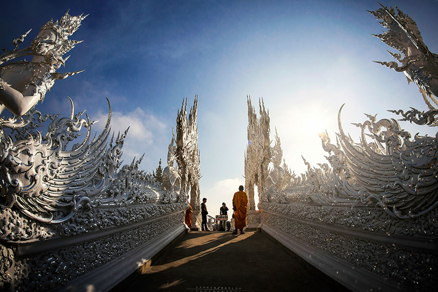 таиландский «райский» Белый Храм (Wat Rong Khun) - мост к храму