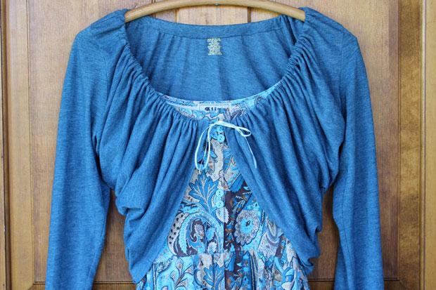 Как сделать летнее болеро для платья или топика из футболки за 10 минут