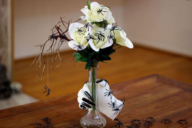 Как сделать букет мертвой невесты для декора помещений на Хэллоуин