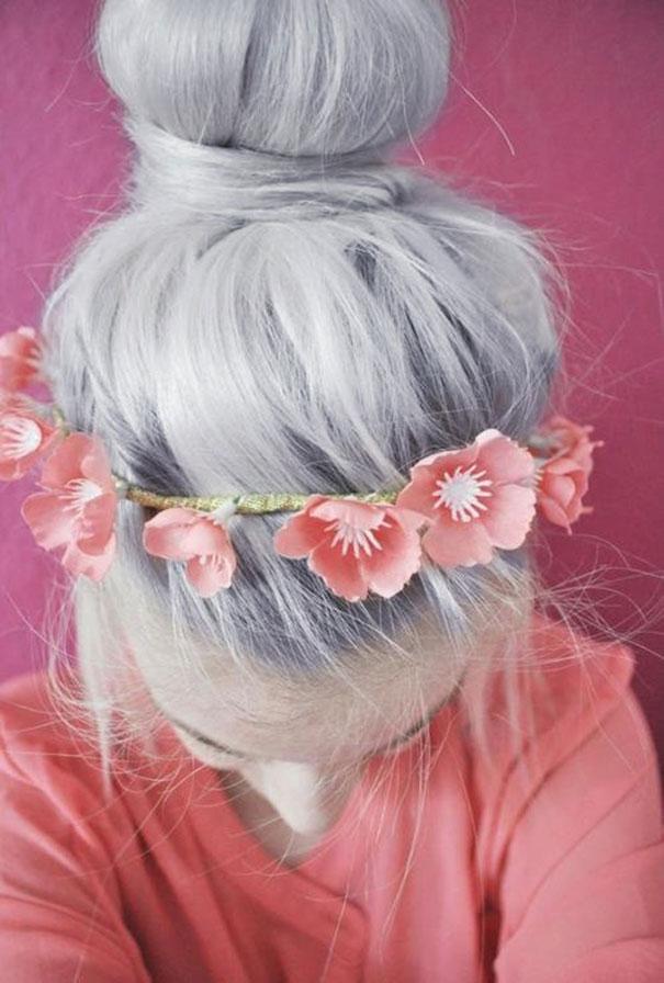 новый мировой тренд в окрашивании: «бабушкины» или седые волосы - контрасты