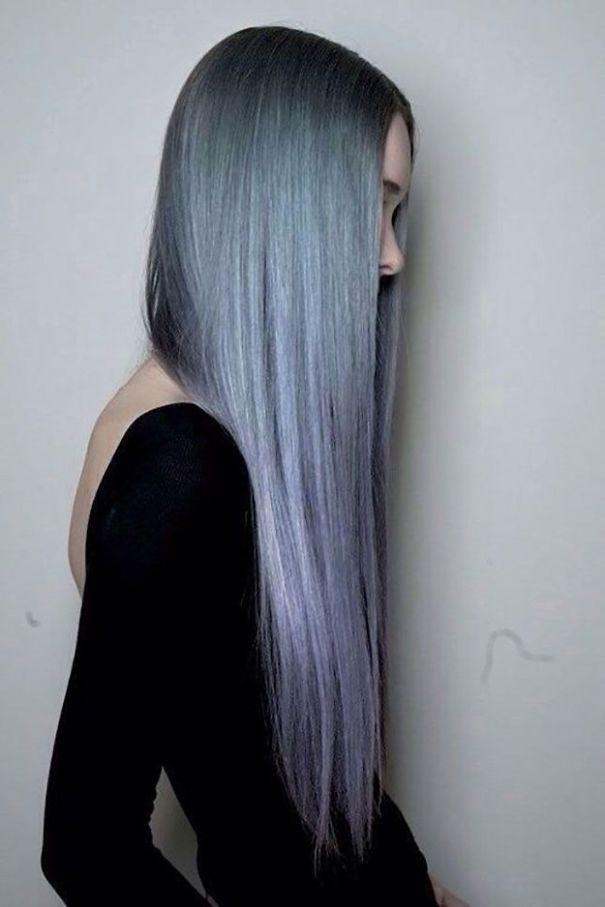 новый мировой тренд в окрашивании: «бабушкины» или седые волосы, селфи