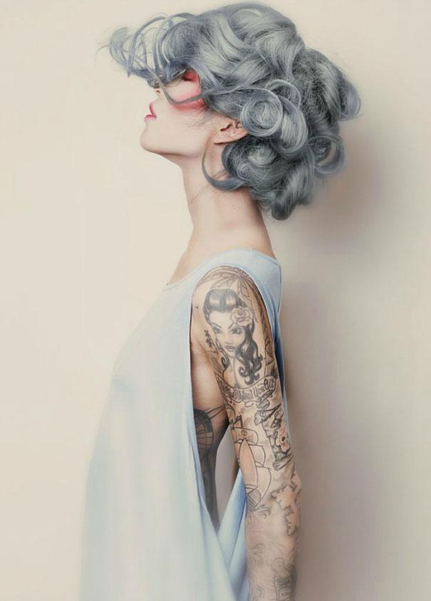 новый мировой тренд в окрашивании: «бабушкины» или седые волосы на кудряшках