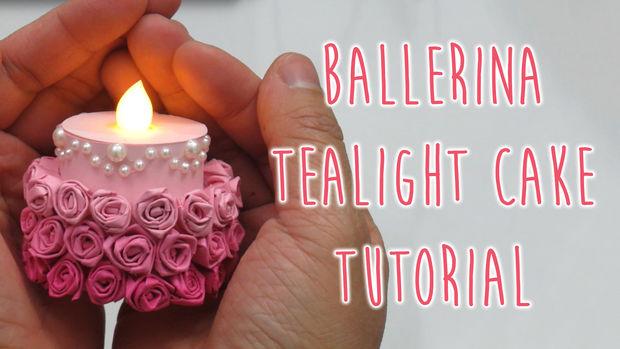 Как сделать мини-торт-«балерину» из искусственной свечи
