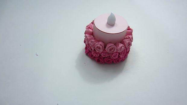 готовая мини-торт-«балерина» из искусственной свечи