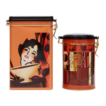 Выберите металлические кофейные банки с крепкими, плотно прилегающими и хорошо закрепляющимися крышками