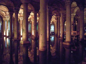 Стамбул «Цистерна Базилика» для сбора воды