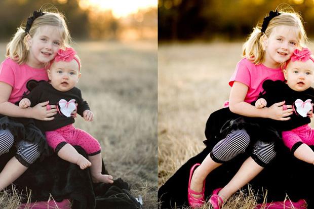 снимок детей до и после обработки фотошопом: Как сделать цвета фотографии более яркими, используя Photoshop