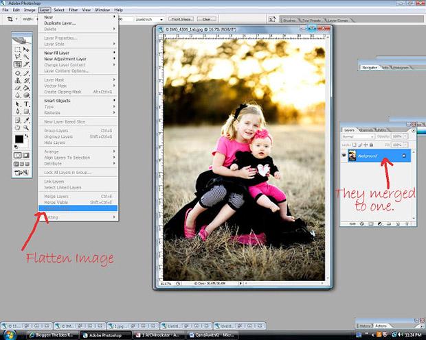 уроки фотошоп: делаем фотографию более яркой - объединяем слои